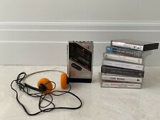 Sony Walkman WM-F202 Refurbished With Headphones, Case And 7 Cassettes *Mint*