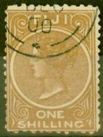 Fiji 1899 1s Dp Brown SG67a P.11 x 11.75 Fine Used