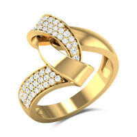 Infinity Wedding Ring for Women 18k Yellow Gold Plated White Sapphire Size 6-10