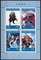 Madagascar 2019 CTO Thor 4v M/S Marvel Comics Superheroes Stamps