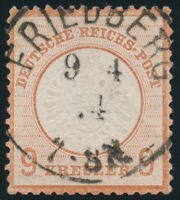 DR 1872, MiNr. 27 a, sauber gestempelt, gepr. Sommer, Mi. 450,-