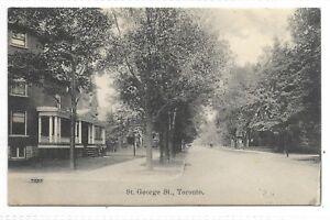 TORONTO, ONTARIO St. George Street Publisher W G Macfarlane Toronto Ontario