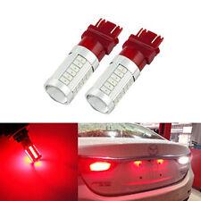 2pcs Red BAY15D 3157 Car Tail Stop Brake Light 5630 33 SMD Auto LED Bulb