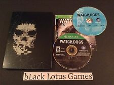 With Steelbook Game Case Watch Dogs Xbox One Limited Collector's Soundtrack