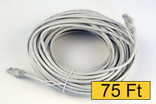 New 75' FT CAT5e CAT5 RJ45 Ethernet LAN Network Patch Cable Cord Gray