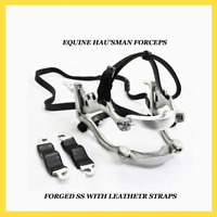 Horse size  Stainless Steel  professional dental mouth speculum NEW leather