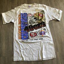 vintage 1994 NFL Super Bowl San Francisco 49ers T Shirt NWT Size Medium