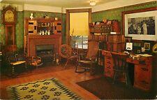 Chrome Postcard IL Francis Willard House Evanston The Den Curteichcolor F639