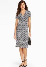 NWT TALBOTS WOMEN BLACK AND WHITE ZIGZAG PRINT SHIFT DRESS SIZE 1X ($149)
