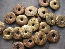 20 perlas de latón ghana ashanti wachsausschmelzverfahren 12 - 13 mm discos
