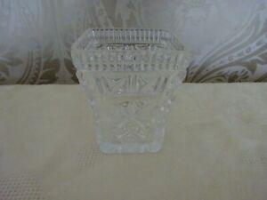 Vintage Retro Crystal Patterned Square posy Vase 9cm tall
