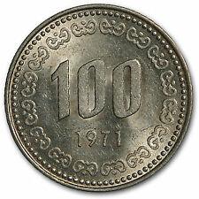 1971 South Korea 100 Won Lee Soon Shin BU - SKU#53208