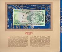 Most Treasured Banknotes Vanuatu 1982 100 Vatu P1a UNC Prefix AA