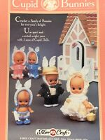 Fibre Craft Cupid Bunnies Vintage Crochet Booklet clothes patterns in 3 sizes