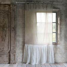 Blanc mariclo 140x290cm Rideaux Rideaux Maison De Campagne Shabby volant halbleinen