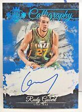 Rudy Gobert 2015-16 Panini Court Kings Calligraphy SAPPHIRE on-card Auto #'d/25