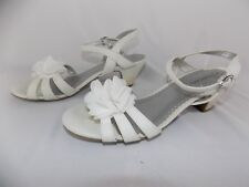 Cherokee White Floral Heels Shoes Women's Size 5