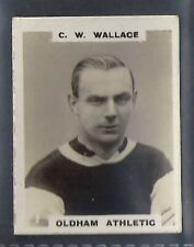 PINNACE FOOTBALL-PINNACE BACK-#0001- OLDHAM ATHLETIC - C. W. WALLACE