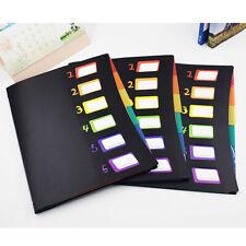 Expanding File Organizer 6 Pockets Folders Portable Document A4 Letter Holder