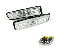 DEPO 97-99 BMW E36 3 SERIES CRYSTAL Clear Side Marker Light + Chrome Amber Bulb