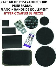 RARE! KIT REPARATION PNEUS RADIAL! FLANC + BANDE DE ROULEMENT 56 PIECES!