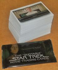 Star Trek Quotable Movies Complete Base Set 90 + Wrapper