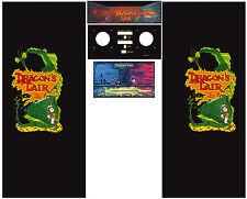 Full Set Side Art Arcade Cabinet Dragon's Lair Artwork Decals Restoration