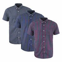 Mens Short Sleeve Shirt by Designer Brave Soul 'Berlioz' Casual Check S-XL