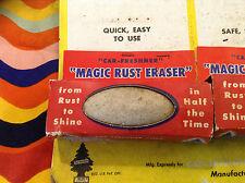 """PROMOTION! nos Vintage 40s/50s """"Magic rouille gomme"""" CHROME Cleaner Pad - 50 S Véritable objet"""