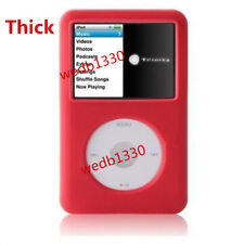Thick Red Silicone Skin Cover Case For iPod Video 30GB Classic 80GB/120GB/160GB