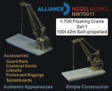 Alliance Model Works 1:700 Floating Crane Set 1 100t 42n Self-Propelled #NW70011