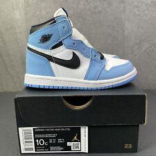 Jordan 1 Retro High OG University Blue UNC Size 10 c Toddler Sneakers