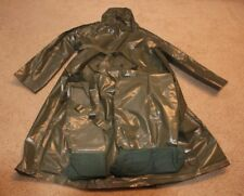 CZECH MILITARY LARGE VINYL RAIN PONCHO & 2 DRY GEAR BAGS HUNTING CAMPING HIKING