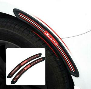 Car SUV Fender Flares Protector Cover Guard Rubber Sticker Moulding Trim Strips