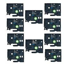 "50PK TZe TZ 335 TZ335 TZe335 White On Black Label Tape For Brother P-Touch 1/2"""