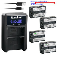 Kastar Battery LCD Dual Charger for Sony NP-FM50 Sony Cyber-shot DSC-F828 DSC-R1