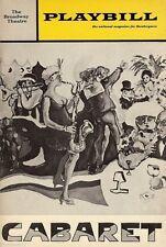 """Kander & Ebb """"CABARET"""" Lotte Lenya / Larry Kert / Anita Gillette 1969 Playbill"""