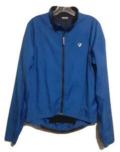 Bontrager Men's Blue Cycling Light Weight Full Zip Packable Wind Jacket S