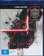 Star Wars The Last Jedi Blu-ray 2-disc NEW Australian Limited First Order sleeve