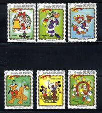 1983 Grenada X-Mas Disney 6-STAMP Minnie Mickey Donald Duck MNH