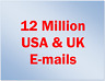 New 12 Million USA and UK email List Fresh Database for Marketing & Business