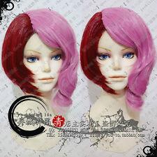 Tekken Alisa Short Anime Pink + Red Cosplay Wig