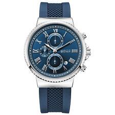 Baogela Men's Watches Quartz Movement Alloy Case Blue Silicone Strap Waterproof