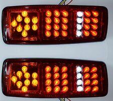 PAIRE FEUX ARRIERE 12V 33 SMD LED LAMPES DE FONCTION MINI REMORQUE CAMION