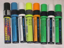 8 Schneider Deco 260 Liquid Chalk Markers Chisel(5-15mm)Tip