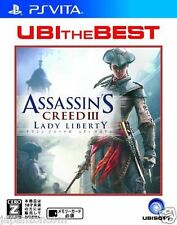 Used PS Vita ASSASSIN'S CREED III UBI best  SONY PLAYSTATION JAPANESE IMPORT