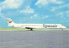 SPANAIR McD Douglas MD-83 EC-EOZ c/n 49627  Airplane Postcard