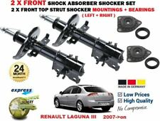 FOR RENAULT LAGUNA III 2007-> 2X FRONT SHOCK ABSORBERS SET + MOUNTING + BEARINGS