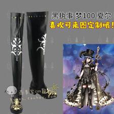 Black Butler Ciel Phantomhive Yume 100 Sun Awake Boots Cosplay Shoes Costom Made