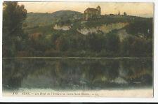France - Sens, Les Bords de l'Yonne et le Tertre Saint-Martin - 1915 Postcard